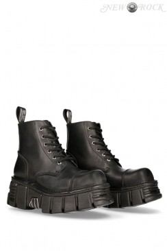 Кожаные ботинки на платформе MILI214B