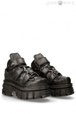 Черные кожаные ботинки 285-S37