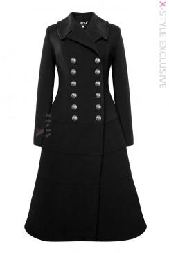 Винтажное зимнее шерстяное пальто X5078
