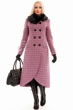 Винтажное пальто с меховым воротником X-Style