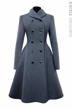 Зимнее пальто из натуральной шерсти 115054