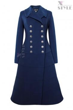Винтажное двубортное пальто X5064