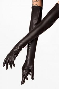 Длинные кожаные перчатки XA166