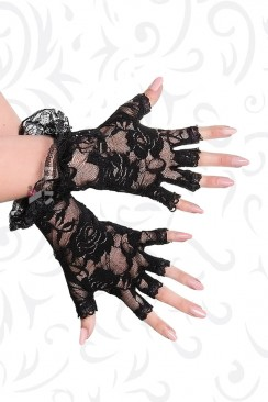Кружевные перчатки без пальцев Artistic
