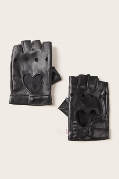 Женские кожаные перчатки без пальцев X1181