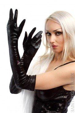 Длинные перчатки под кожу