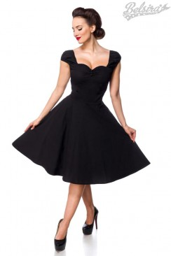 Хлопковое платье Ретро с декольте B519