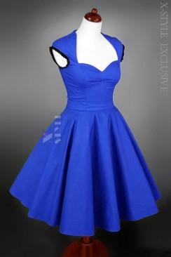Винтажное платье с декольте и поясом