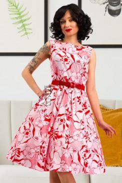 Летнее платье с цветочным узором X5349