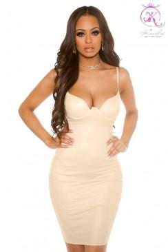 Облегающее платье с откровенным декольте KouCla