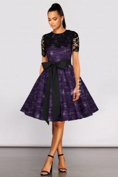 Платье с шалью и поясом XC5464