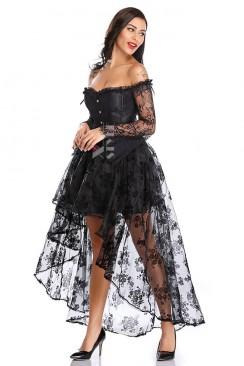 Платье-двойка: корсет и юбка со шлейфом