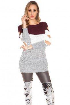Вязаное платье-туника KouCla