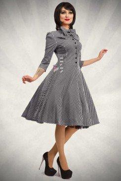 Клетчатое платье в стиле 50-х