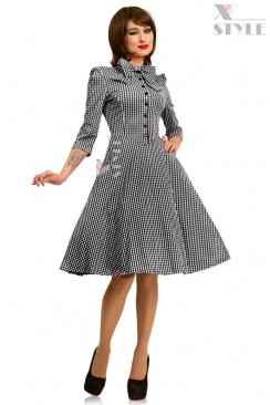 Клетчатое платье в стиле 50-х X-Style