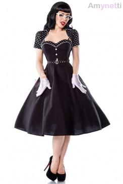 Винтажное платье с болеро и поясом