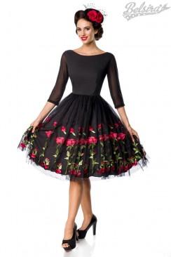 3a1d030ee7f ... Винтажное платье с вышивкой на юбке Belsira ...