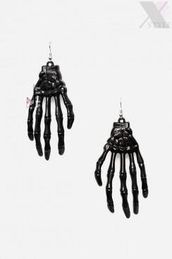 Серьги Руки скелета XA9176