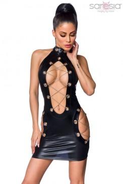 Блестящее платье с вырезами S7176