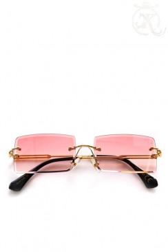 Солнцезащитные женские очки без оправы (K110-Red)