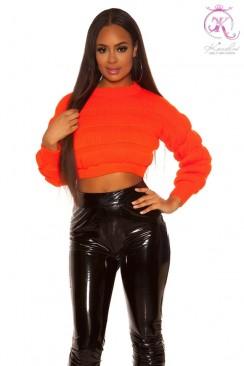 Яркий вязаный пуловер KC1243