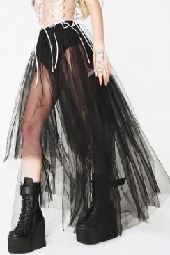 Длинная асимметричная юбка-пачка X7168