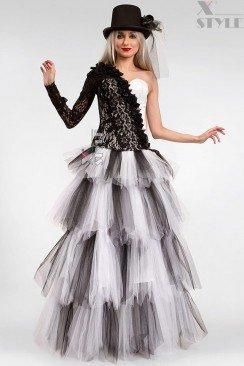 Длинная многослойная пышная юбка X-Style