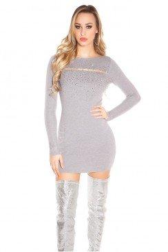 Короткое облегающее платье с декором спереди MF5377