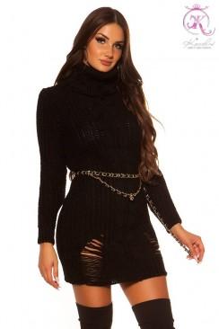 """""""Рваное"""" платье-свитер KC5008"""