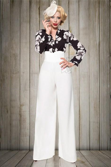 Белые широкие женские брюки Belsira (108060)