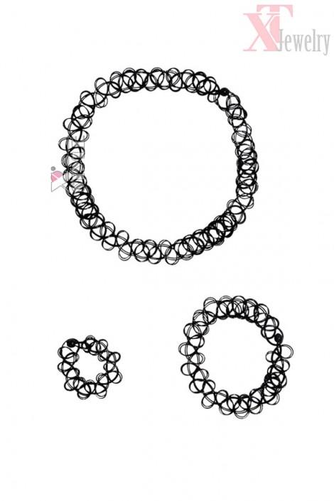 Ожерелье-чокер с браслетом и кольцом XJ7002 (717002)