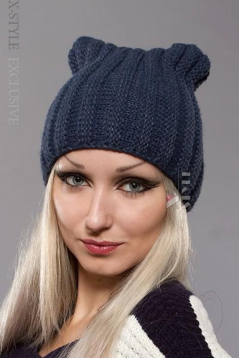 Зимняя шапка с ушками кошки (502050)