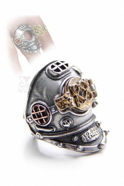 Массивное кольцо в стиле Хай-тек (ручная работа) (AGR181)
