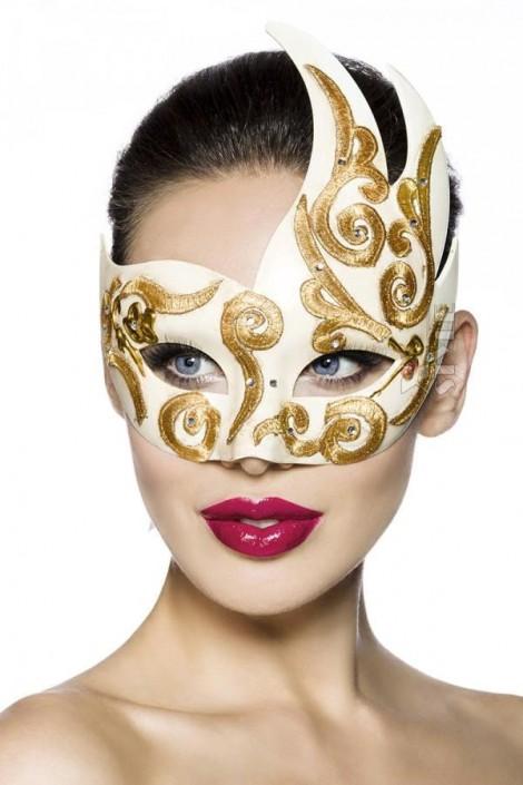 Венецианская маска с камнями и вышивкой A1079 (901079)