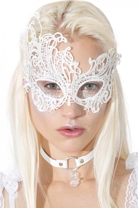 Белая ажурная маска для глаз A1046 (901046)