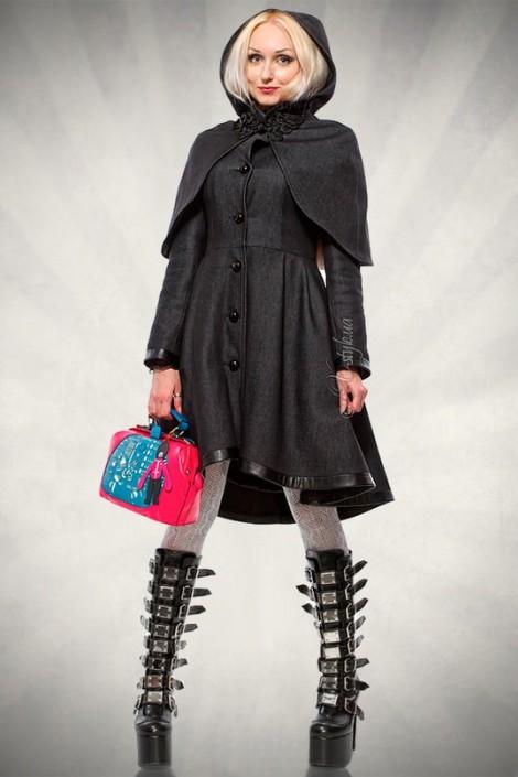 Асимметричное зимнее пальто женское (115039)