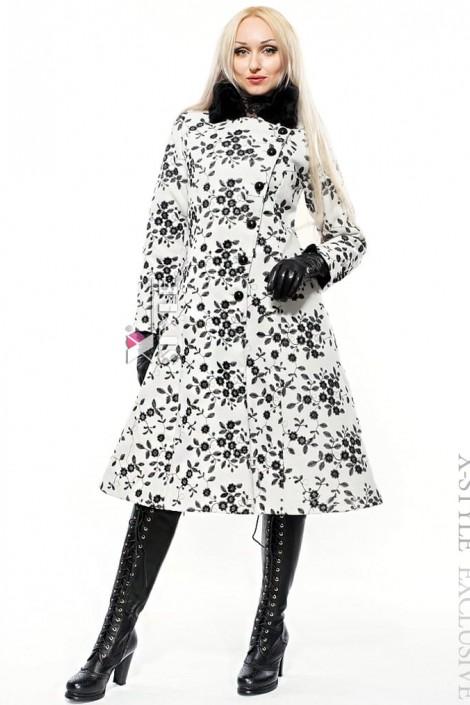 Зимнее пальто с мехом на воротнике X-Style (115030)