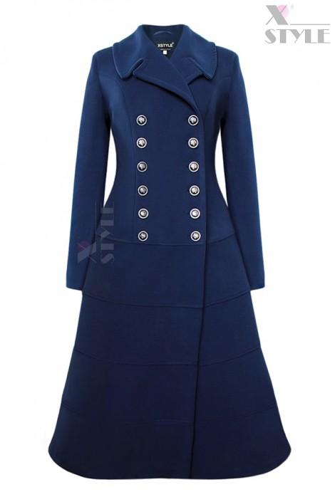 Винтажное двубортное пальто X5064 (115064)