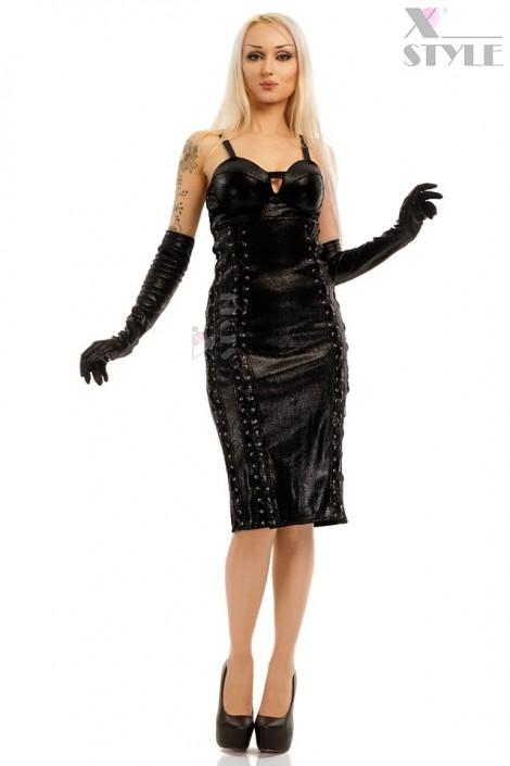 Платье миди под змеиную кожу X-Style (105210)