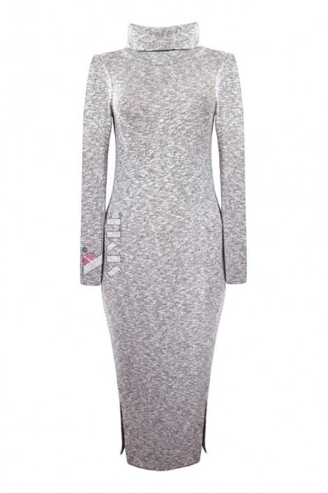 Серое меланжевое платье XC306 (105306)
