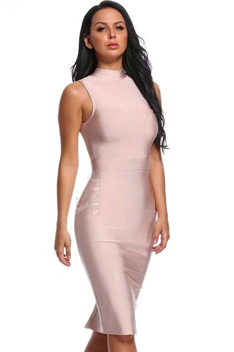 Бандажное платье с воротничком XC314 (105314)