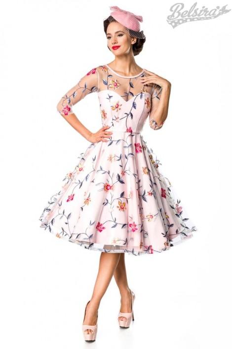 Винтажное платье с вышитыми цветами Belsira (105402)