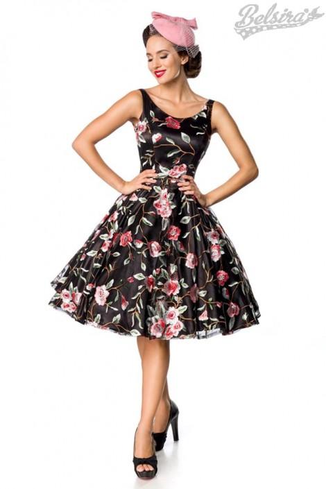 Платье Ретро с вышитыми цветами Belsira (105404)