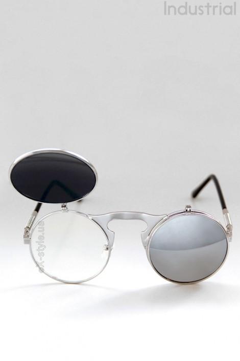 Зеркальные круглые очки Hitek (905063)