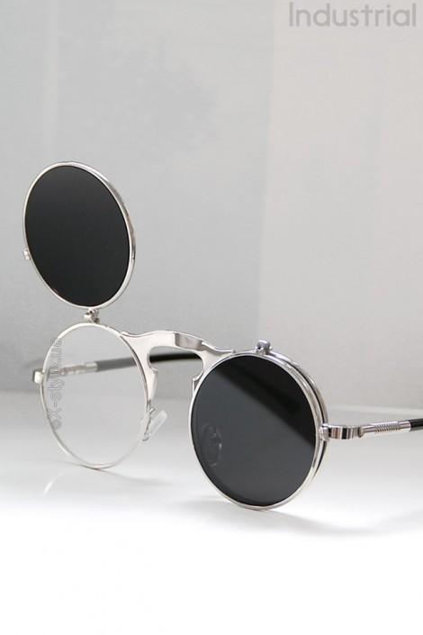 Серебристые круглые очки Hitek (905073)
