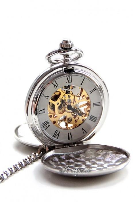 Двусторонние механические часы с цельной крышкой (330037)