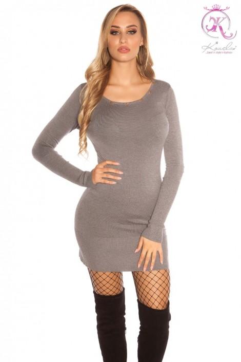 Вязаное платье с клепками на декольте KC5367 (105367)