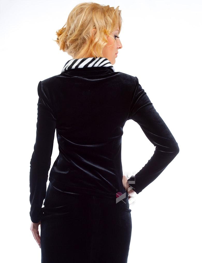 Блузка с мехом в стиле Ретро, 3