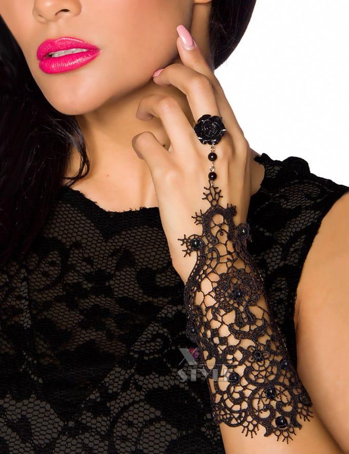 Кружевной браслет с кольцом Amynetti, 3