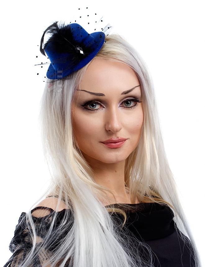 Синяя вечерняя шляпка X-Style